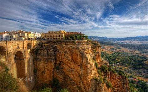 city  building spain cliff landscape wallpapers hd