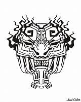 Aztec Mayan Mask Coloring Inca Incas Aztecs Pages Adult Mayans Inspiration Drawing Printable Temple Adults Drawings Jaguar Template Inspired Justcolor sketch template