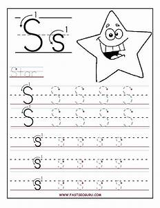 Printable letter s tracing worksheets for preschool for for Children s books about writing letters