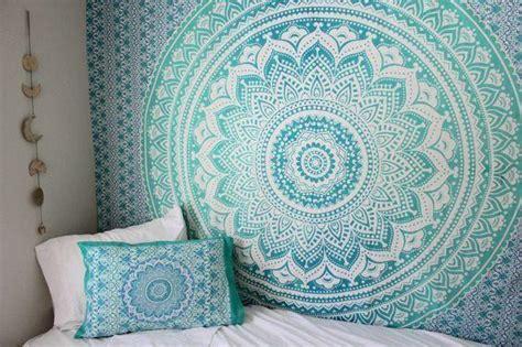 mandala wall tapestry sea green ombre tapestry boho wall tapestry