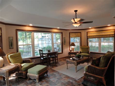 Living Room Trays : Tray Ceiling In Sunroom Addition