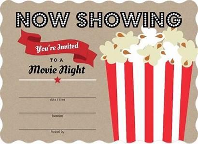 Blank Invitations Popcorn Party Fill Bucket Birthday