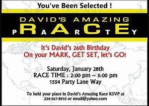 amazing race party supplies and invitations amazing With amazing race birthday party templates