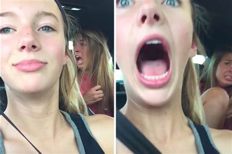 Teen Girls Selfie Interrupted By Wasp In Slo Mo Video