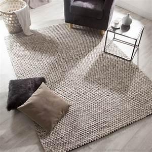 tapis 100 laine bouclee ecrue et degrade de marron With tapis chambre enfant avec entretien canapé tissu