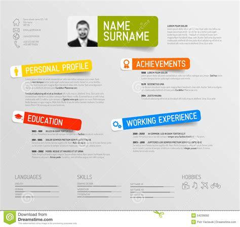 Resume Labels by Minimalist Resume Design Studio Design Gallery