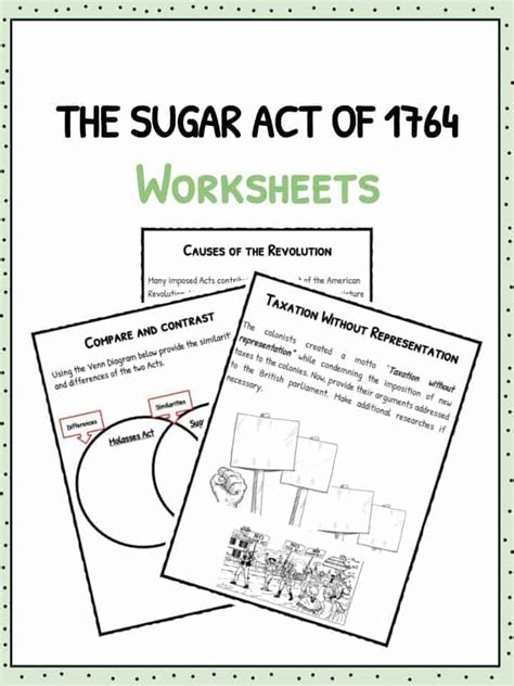 The Sugar Act Of 1764 Facts, Information & Worksheets For Kids Study