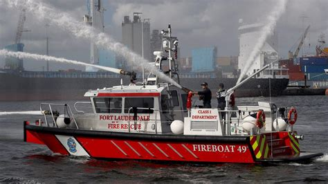 Fireboat For Sale by Fort Lauderdale Upgrades Its Water Response With Fireboat