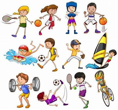 Vector Sports Different Children Playing Kinds Clipart