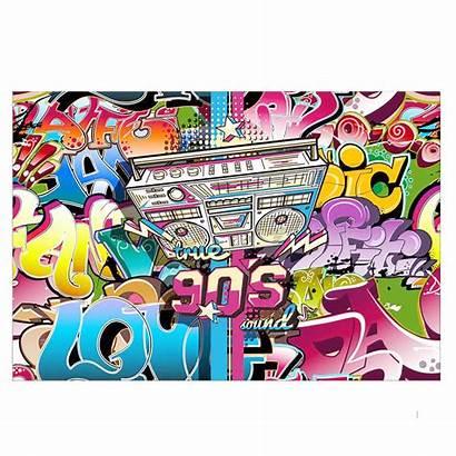 1990s Hop Hip Background Theme Party Backdrop