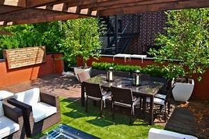 terrasse exterieur amenagements et deco en 53 idees With photo amenagement terrasse exterieur 11 decoration salon tv