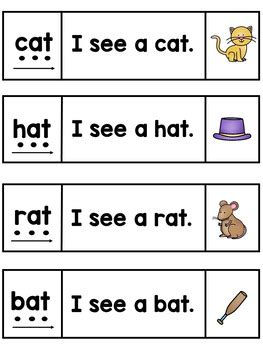 To record their work, they. CVC Words Blending and Simple Sentence Reading (Strips and ...