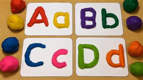 playdough letter tracing preschool learning activity 968 | maxresdefault