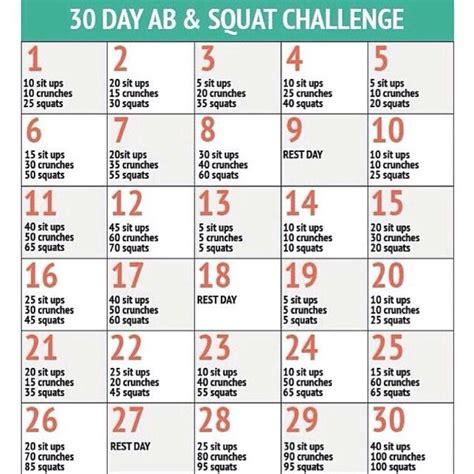 bauch beine po challenge 30 tage zum sixpack abs quads bauch workout