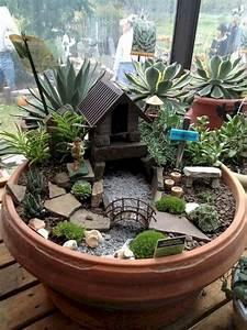 47, Amazing, Miniature, Garden, Design, Ideas, 20