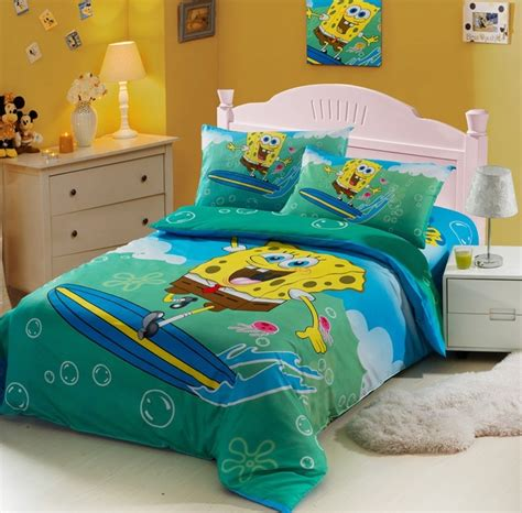 Spongebob Toddler Bed Set by Spongebob Blue Duvet Cover Bedding Sets Kais Room
