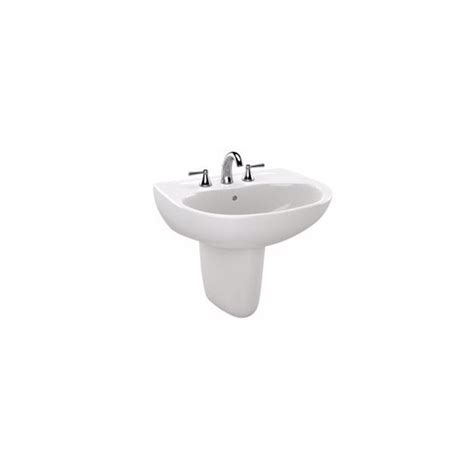 toto pedestal sink canada toto prominence wall mount combo bathroom sink in cotton