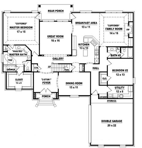 one 4 bedroom house plans 4 bedroom one house plans marceladick com