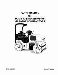 Ingersoll Rand Dd24    Dd30    Dd28hf    Dd34hf Parts Manual