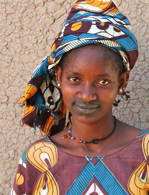africa portrait   fulani girl mali  fulani