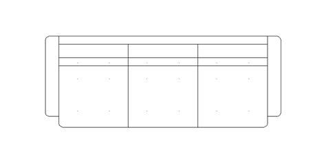 sofa 3 plazas dwg bloques autocad gratis de sof 225 de 3 plazas visto en planta