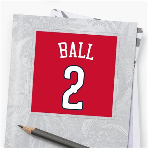 """Official facebook page of lonzo ball. """"Lonzo Ball Pelicans"""" Sticker by csmall96   Redbubble"""