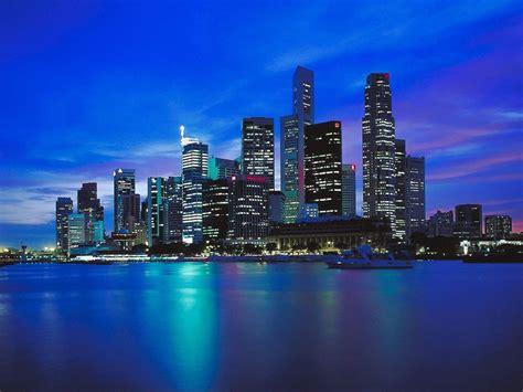 Stadtlandschaften Skylines Gebäude Lichter Der Stadt Hd