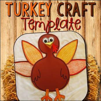 turkey craft template turkey cut  paste craft tpt