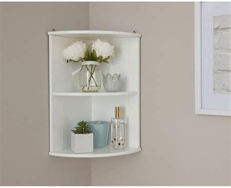 Colonial Bathroom Corner Wall Shelf Unit With White Finish