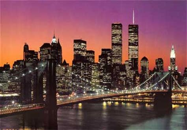 fototapete manhattan skyline  york foto retro