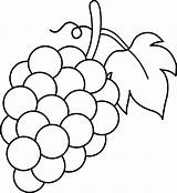 Grapes Clip Grape Drawing Coloring Fruit Pages Bunch Line Clipart Vines Communion Sweetclipart sketch template