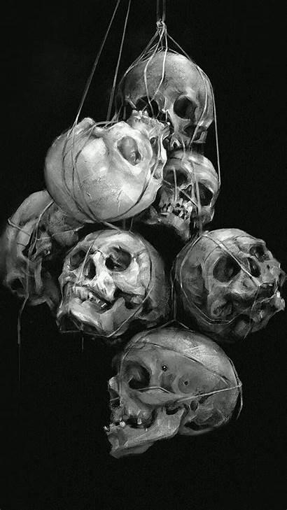 Skull Iphone Dark Wallpapers Skulls Zedge Punisher