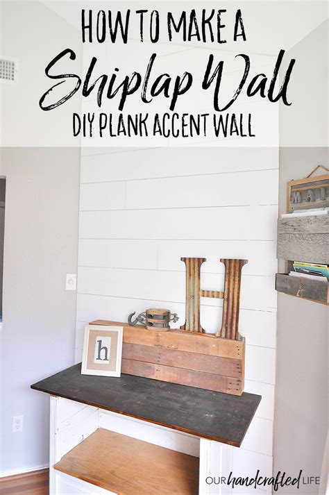 How To Make Shiplap by How To Plank An Accent Wall Diy Shiplap For Less Than