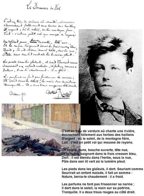Le Dormeur Du Val D Arthur Rimbaud by Le Dormeur Du Val D Arthur Rimbaud Moncm2 Fr