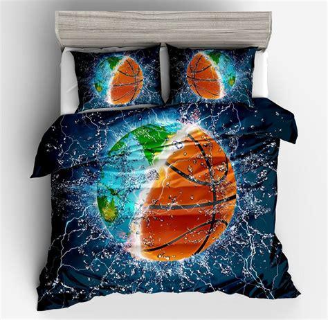 demissir  earth basketball  blue duvet cover set