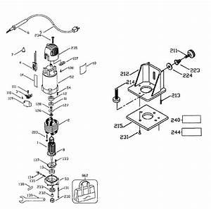 Dewalt D26670 Type 1 Router Parts