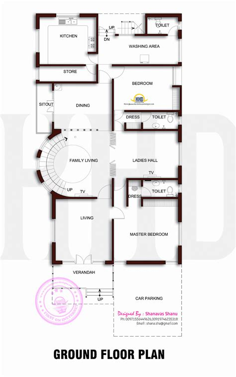 beautiful contemporary home plan indian house plans