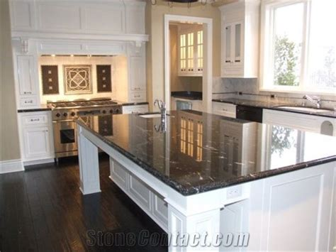 Black Granite Countertops for Kitchens, Astrus Black