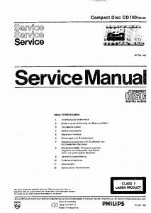 Philips Cd100 Cd Player 1983 Sm Service Manual Download  Schematics  Eeprom  Repair Info For