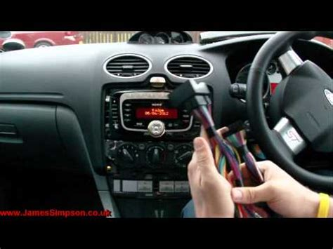 ford focus mk   stereo removal youtube