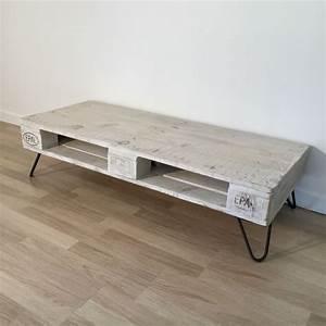 Table Basse Ancienne : table basse en palette europe blanche ~ Dallasstarsshop.com Idées de Décoration