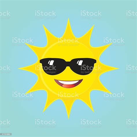 Sun Face With Sunglasses Stock Illustration - Download ...