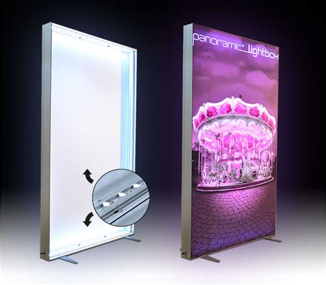 light box led display light box with led printed on fabric