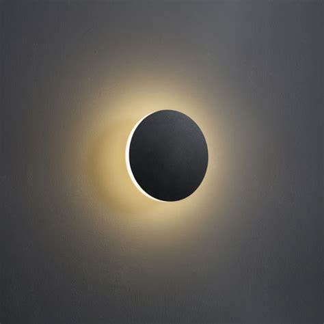 lwa228 4 watt black indoor wall lights halo effect