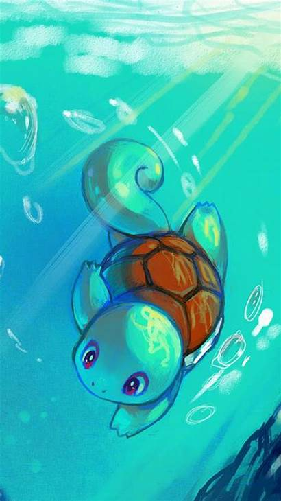 Pokemon Iphone Wallpapers Water Cool Squirtle Mobile