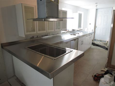 cuisine de comptoir comptoir en acier inoxydable avec évier intégré pictures