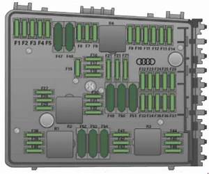 Audi Tt  2006 - 2014  - Fuse Box Diagram