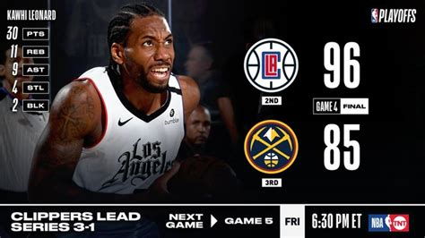 NBA Playoffs: Clippers beat Nuggets, Raptors beat Celtics ...