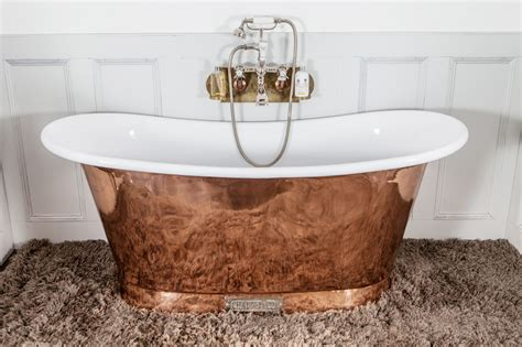 large floor mirrors royal copper bath with white interior chadder co