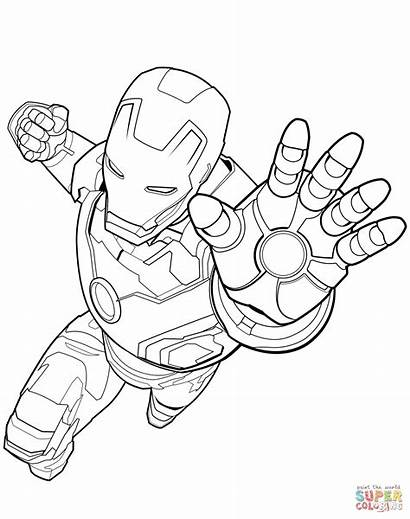 Captain Coloring Marvel Pages Avengers Printable Ame